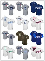 Wholesale Mens Womens Youth Los Angeles Cody Bellinger Corey Seager Blue white gray army green Collecti Custom Baseball Jerseys Dodgers