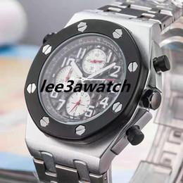 Discount royal offshore watches - Hot Sale Luxury Royal Oak Offshore Diver 42mm Movement watch Quartz Watch 15703 Series Rubber Belt Mens Black Dial Sport