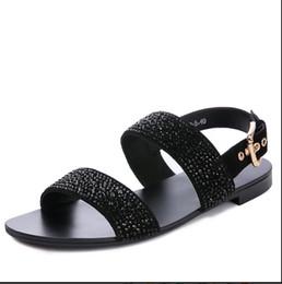 $enCountryForm.capitalKeyWord Australia - men's sandals summer diamond sandals for men men leather open-toe casual non-slip breathable soft soles gladiator shoes