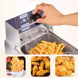 stainless air cylinder NZ - Restaurant equipment fryer 12L stainless steel fryer 12L double cylinder hot multi-function air fryer
