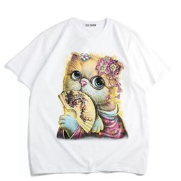 $enCountryForm.capitalKeyWord Australia - Mommy And Me Cat T Shirts 2019 Family Matching Cartoon Clothes Mother And Daughter Short Sleeve T-Shirt Family Summer Look
