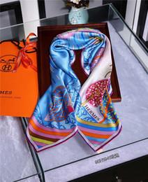 $enCountryForm.capitalKeyWord Australia - Classic women silk scarf female scarves ladies wrap chiffon shawl Camellia Printed sunscreen bandanna foulard muffler