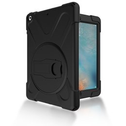 Ipad Air Tablet Pc Screens UK - Drop resistance Kids Safe 3 in 1 Shockproof Hybrid Case Silicone +PC Back Cover for iPad5 Tablet+Stylus
