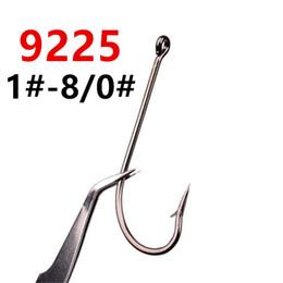 200pcs 1 # -8 / 0 # 9225 O'SHAUGHNESSY HOOK High Carbon Stahl Barbed Angelhaken Angelhaken Pesca Karpfen Angelgerät Zubehör FS_23 im Angebot
