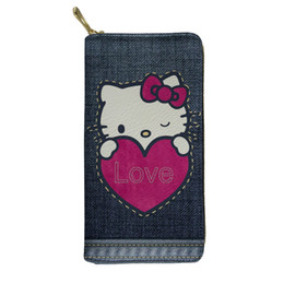 391a9de39 Cartoon Printing Hello Kitty Wallet Women Cute Long Card Purse Zipper  Portefeuille Femme Boys Girls Carteira Feminina Portfel