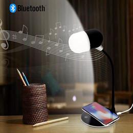 $enCountryForm.capitalKeyWord Australia - Flexible gooseneck LED desk lamp USB charging with wireless charger bluetooth speaker table light Smart Touch Dimmer lighting