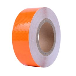 orange tape UK - 5CM Wide Orange Self Adhesive Warning Tape Automobiles Motorcycle Reflective Filmstickers for Car