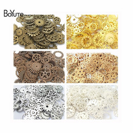 made pearls bag Canada - BoYuTe (200 Gram Bag) Mix Metal Alloy 12MM 25MM Gears Pendant Charms for Jewelry Making Diy Steampunk Gear Wholesale