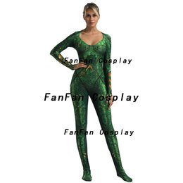 $enCountryForm.capitalKeyWord UK - Mera Girl Cosplay Costume Spandex 3D Print Zentai Bodysuit Suit Jumpsuits halloween costumes for Women Hot Sale