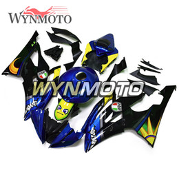 Motorcycle Fairing Kits Abs Plastic Australia - Complete Motorcycle Fairings For Yamaha YZF 600 R6 2008 - 2016 09 10 11 12 13 14 15 ABS Plastic Injection motorbike Cowling Yellow Blue Kit