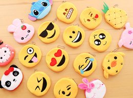 Silica Pouches Australia - 20pcs lot cute coin purse for cartoon mini Silica gel coin pouch lovely key holder Promotion gift Wholesale