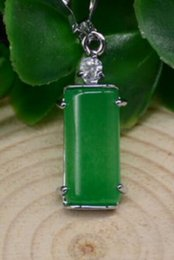 $enCountryForm.capitalKeyWord Australia - necklace Free shipping ++++natural hand carved Chinese jade Green fashion Lucky jade pendant necklace