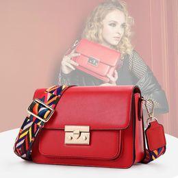 635065eb55b4 Luxury Bag Womens Leather Handbags and Purses Colorful Wide Strap Messenger  Cross Body Bags Bolsos Mujer De Marca Famosa 2018