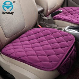 Auto Seat Warmers Australia - DERMAY 1PC Plush Car Seat Covers Protector Driver Chair Pad Car-styling Velvet Winter Warm Seat Cushion Auto Accessories 11Color