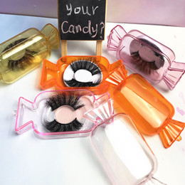 New Candy Boxes Cute Mink Lashes Boxes Candy False Eyelashes Packaging Box Empty Lashes Case Packing Box For Make Up on Sale