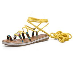 $enCountryForm.capitalKeyWord Australia - Sexy2019 Toe Set Sandals Will Code Bandage Women's Shoes Level With 66-6
