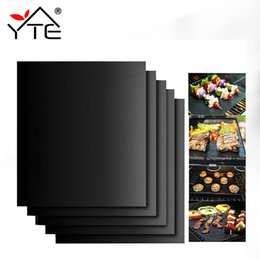 $enCountryForm.capitalKeyWord Australia - 1pc 40*30cm Non-stick Bbq Mat Barbecue Baking Liners Reusable Sheets Useful Cooking Tools C19041501