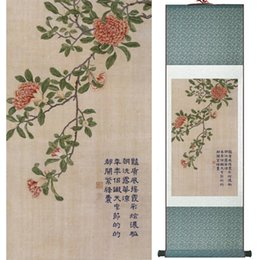 scroll paintings Australia - Home Office Decoration Chinese Scroll Painting Birds Painting Chinese Wash Printed Painting 060204