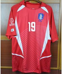 south korea shirts 2019 - World Cup Retro Soccer jerseys 2002 World cup south korea home Away White short sleeve J H AHN J S PARK Jung-Hwan Park J