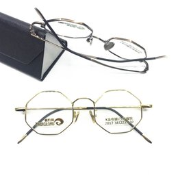 c4780d3ca4fb3 Vintage Strange Polygon Nerd Round 38mm Full Rim Eyeglass Frames small  Glasses Top Quality