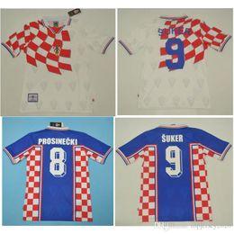b691f34ae45 Top 1998 Croatia Retro Jerseys VINTAGE CLASSIC SUKER Soccer Jersey HOME AWAY  Football Shirt Prosinecki maillot de foot