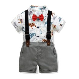 $enCountryForm.capitalKeyWord UK - 2019 cross-border children's clothing suits Foreign trade Europe and the United States boys cotton printing haubes bib collar bow tie