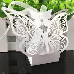 butterfly gift box for favors Australia - Wedding Gift Butterfly Decorations for Wedding Candy Bag Gifts for Guests Favors Bags Event Party Supplies