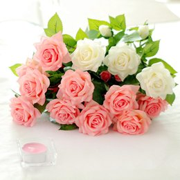 $enCountryForm.capitalKeyWord Australia - Artificial Latex Rose Flowers For Wedding Real Touch Flower Roses Home Decorations Wedding Party Supplies