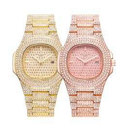 Wholesale Fashion Diamond Crystal Dials Wristwatch Women Mens Party Casual Quartz Watches For Man Woman PATEK HILIPPE Watch