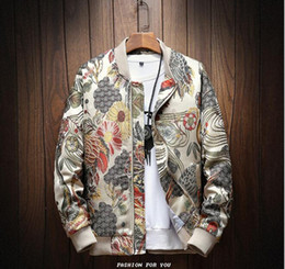 xl floral bomber jacket Australia - 2019 Sping Autumn new Japanese Embroidery Men Jacket Coat Man Hip Hop Streetwear Men Jacket Coat Bomber Jacket Men Clothes