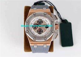 $enCountryForm.capitalKeyWord Australia - K Designer Rose Gold Mens Watch White Dial Swiss 3126 Automatic Sapphire Crystal Luminous Wristwatches Grey Rubber Strap + Camouflage Strap