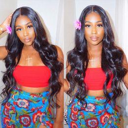 $enCountryForm.capitalKeyWord Australia - Body Wave Human Hair Wigs Bleached Knots Full Lace Wigs Brazilian Malaysian Medium Size Swiss Lace Cap Lace Front Wigs
