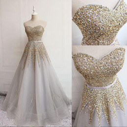 $enCountryForm.capitalKeyWord Australia - 2019 Sexy African A-Line sweetheart Evening Dresses sparkly sequined Beaded Sweep Train Plus Size Prom Evening Gowns custom made
