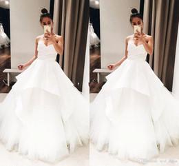 $enCountryForm.capitalKeyWord Australia - 2020 Unique Design plus size simple a line wedding dresses robes de soirée bridal gowns Tiered Sweep Train