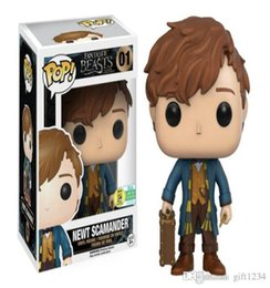 fantastic action figures Australia - Bravo Bravo price Adorable Funko Pop Fantastic Beasts Newt Scamander Vinyl Action Figure With Box #01 Bravo Doll Toy Free Shipping