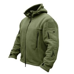 Hunting Hoodies online shopping - HENGSONG New Military Tactical Outdoor Soft Shell Fleece Jacket Men Army Sportswear Thermal Hunt Hiking Sport Hoodie Jackets T190919