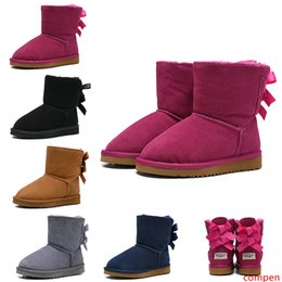 kids snow boots for boys UK - 2020 New WGG Australian Classic Kids Boots Designer Snow Boots for Children Girl Boy Ankle Bailey Bow Fashion Winter Booties 26-35