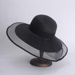 5063d4b6 Black wide Brim summer hat online shopping - Fashion Floppy Straw Beach Hats  Casual Vacation Travel