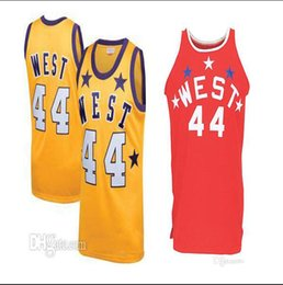 custom basketball jerseys Australia - #44 JERRY WEST west all stars high quality Men's Embroidery Stitched Basketball Jersey Custom any name and number