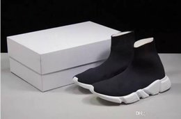 Discount best canvas shoes for women - Best Level Sock shoes speed for women Designer fashion Luxury Paris boots off Red Triple Black Flat new good casual shoe