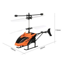 helicopter aircraft UK - D715 Flying Mini Infrared Induction RC Helicopter Drone Remote Control Aircraft with LED Flashing light for Kids Toys Gift