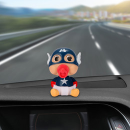 Toys Hangings For Car Australia - Car Decoration Baby Nipple Doll For Captain America Shaking Head Action Figure Cute Toy Car Interior Decorating Accessories
