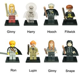 Harry Potter Blocks NZ - Mini Harry Potter Figure Remus John Lupin Ron Weasley Trolley Witch Malfoy Susan Bones Mini Action Figure Toy Building Block Bricks