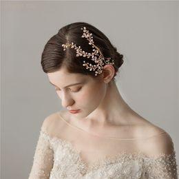$enCountryForm.capitalKeyWord Australia - wholesale Gold Rhinestone Branch Hair Comb For Bride Handmade Wedding Accessories Bridal Hair Ornament Women Prom Headpiece