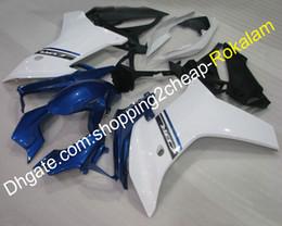 Cheap Motorcycles Fairings Australia - Cheap Motorbike Fairing For Honda CBR600F 2011 2012 2013 CBR 600F 11 12 13 Blue White body kit Motorcycle Fairings (Injection molding)