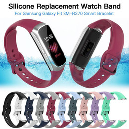 $enCountryForm.capitalKeyWord Australia - Silicone Watch Strap Wrist Band Strap for Samsung Galaxy Fit-e R370 Smart Bracelet Replacement Watch Band Strap Accessories