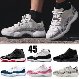 $enCountryForm.capitalKeyWord Australia - Low LE Snakeskin Light Bone Snakeskin 11 Womens Men Basketball Shoes Concord 11 Space Jam Cap and Gown Platinum Tint Womens Trainers 5-13