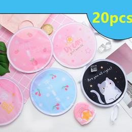 $enCountryForm.capitalKeyWord Australia - 20pcs Hand Fan Cute Mini Travel Portable Fan Unicorn Shape Folding Pocket Cloth Folding Summer Swinnming Party favors