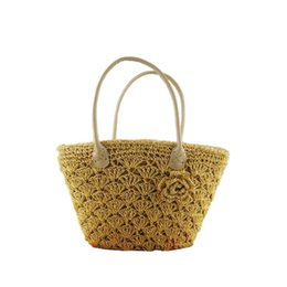 Wholesale New Designer Straw Tote Floral Shopping Bag Lady Handbags Women Classical Beach Shoulder Bags For Female An445