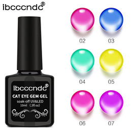 $enCountryForm.capitalKeyWord Australia - New 10ML Translucent Acrylic Pure Glaze Colors Glass Gel Lacquer Painting for 3D Gem Cat Eye Effect Nail Polish Jelly Gem Gel